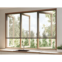 Retractable Screen & Blind for Timber Windows - Vertical